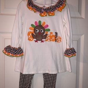 Bonnie Jean Thanksgiving outfit 3T